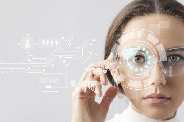 Futuristic graphic represents HR technology