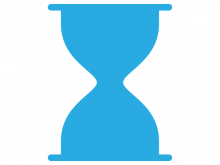 sand timer blue graphic