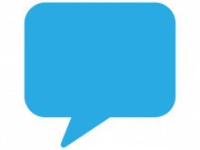 graphic of blue speech bubble