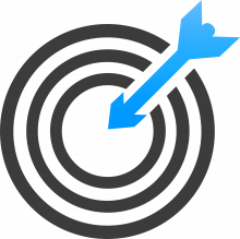 icon of a target with an arrow in the middle